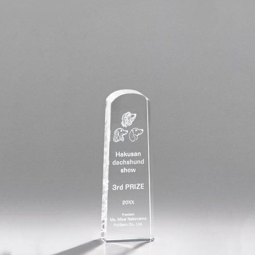 光学ガラス製トロフィー A05-02C ★高さ150mm