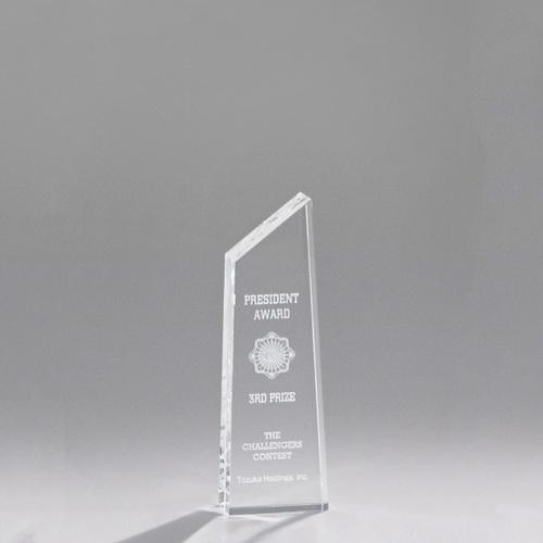 光学ガラス製トロフィー A06-01C ★高さ150mm