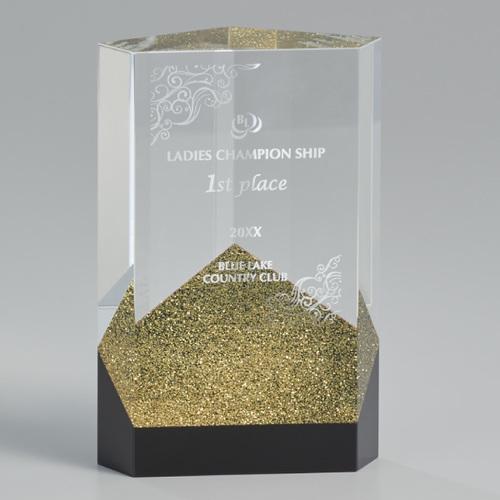 光学ガラス製オーナメント A07-01G ★高さ150mm