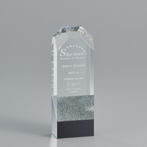 A07-02B 光学ガラス製トロフィー ★高さ200mm