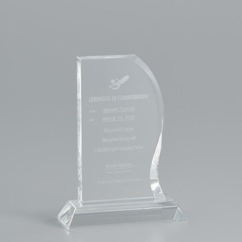 光学ガラス製オーナメント A08-02B ★高さ170mm