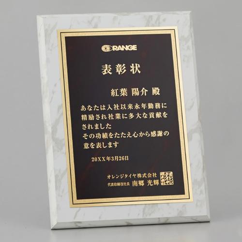 A34-05A 金属表彰板付木製楯 ★高さ305mm