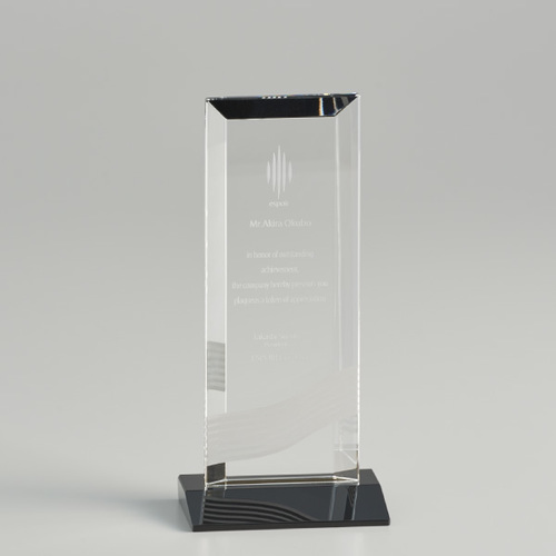 【版代別途必要】光学ガラス製オーナメント B46-01B ★高さ192mm