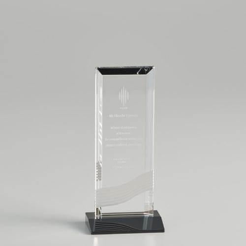 【版代別途必要】光学ガラス製オーナメント B46-01C ★高さ165mm