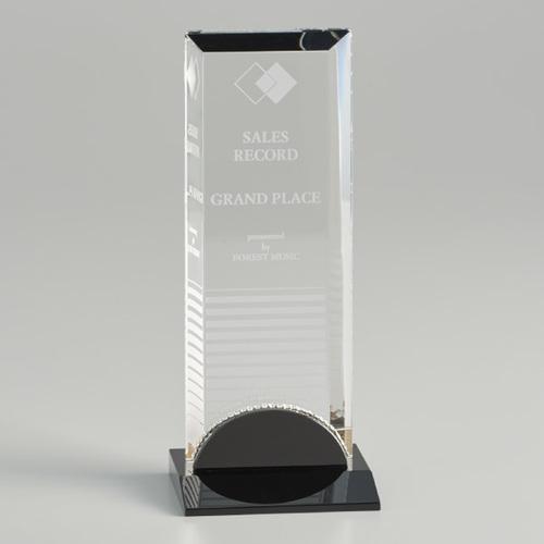 【版代別途必要】光学ガラス製オーナメント B46-02A ★高さ217mm