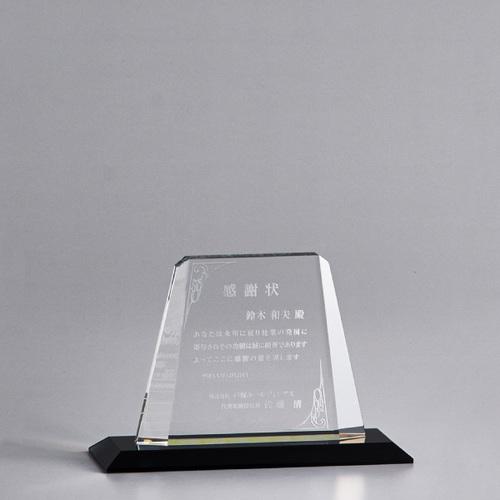 【版代別途必要】光学ガラス製オーナメント B47-01C ★高さ132mm