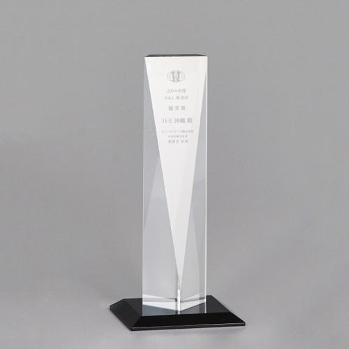 【版代別途必要】光学ガラス製トロフィー B47-02B ★高さ262mm