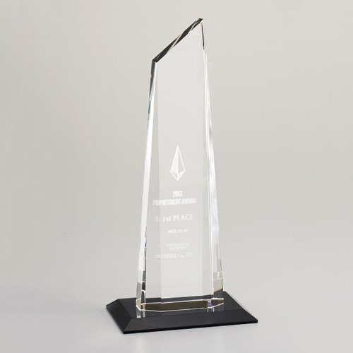 【版代別途必要】光学ガラス製トロフィー B48-01A ★高さ312mm