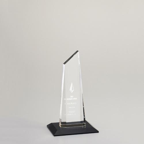 【版代別途必要】光学ガラス製トロフィー B48-01C ★高さ200mm