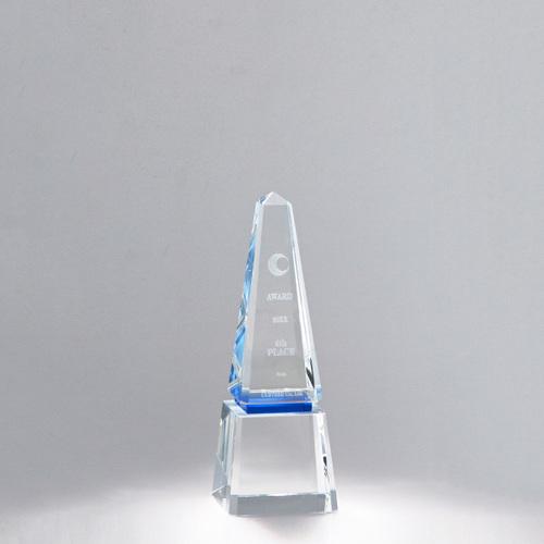 【版代別途必要】光学ガラス製トロフィー B50-01D ★高さ200mm