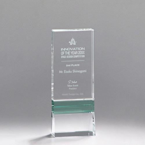 【版代別途必要】光学ガラス製トロフィー B50-03B ★高さ180mm