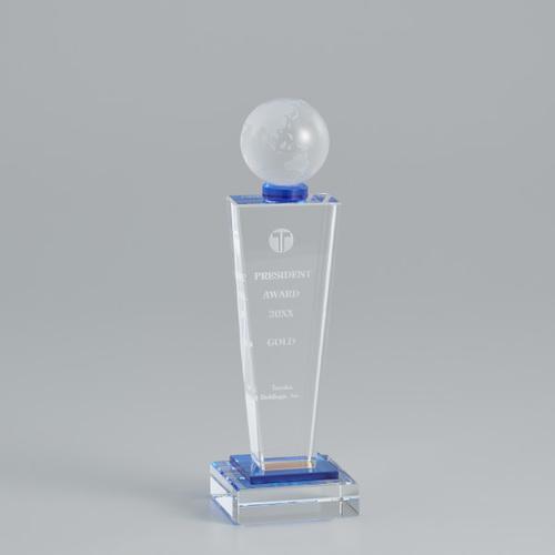 【版代別途必要】光学ガラス製トロフィー B51-01B ★高さ240mm