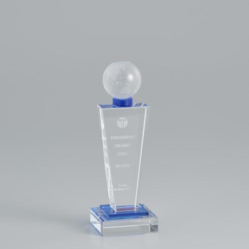 【版代別途必要】光学ガラス製トロフィー B51-01C ★高さ215mm