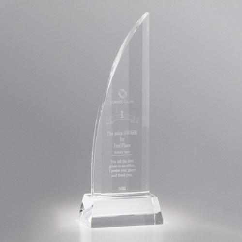 【版代別途必要】光学ガラス製トロフィー B54-01A ★高さ250mm
