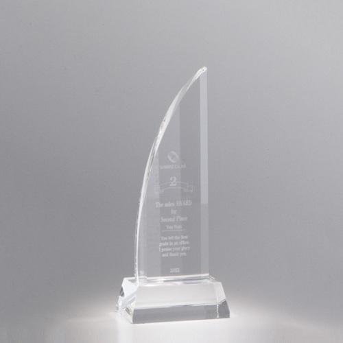 【版代別途必要】光学ガラス製トロフィー B54-01B ★高さ220mm