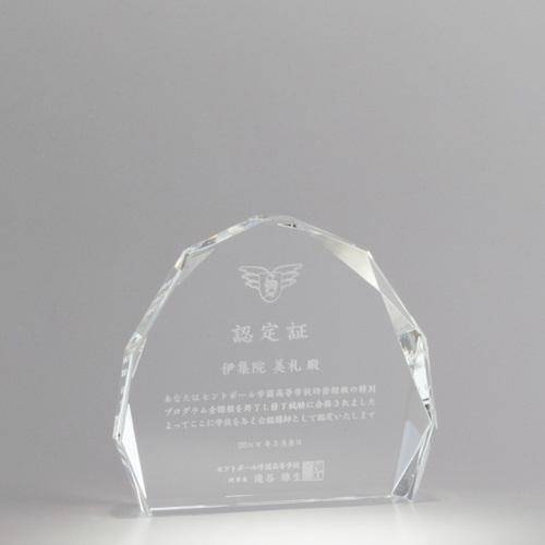 【版代別途必要】光学ガラス製オーナメント B55-01C ★高さ115mm
