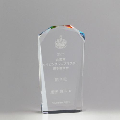 【版代別途必要】光学ガラス製オーナメント B56-01B ★高さ155mm
