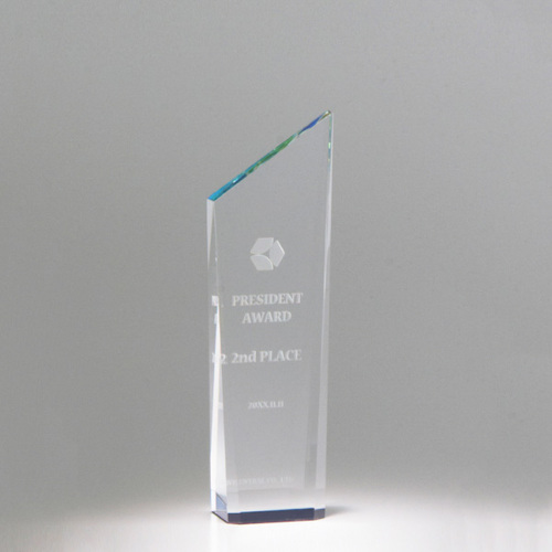 【版代別途必要】光学ガラス製トロフィー B56-02B ★高さ160mm