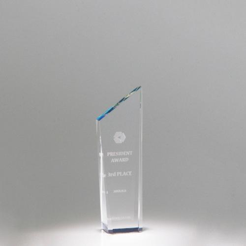 【版代別途必要】光学ガラス製トロフィー B56-02C ★高さ145mm