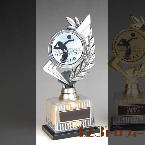 【オリジナルデザインができるトロフィー】シルバー(銀) BRZ-2672S- ★高さ210mm 《#B25》 ★プレート彫刻無料