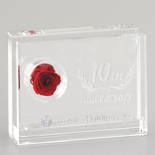 光学ガラス製フラワーオーナメント D70-04 ★高さ85mm