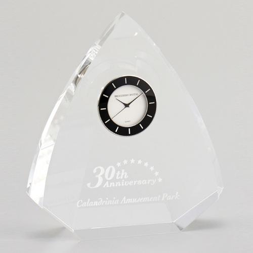光学ガラス製置時計 D73-01 ★高さ130mm