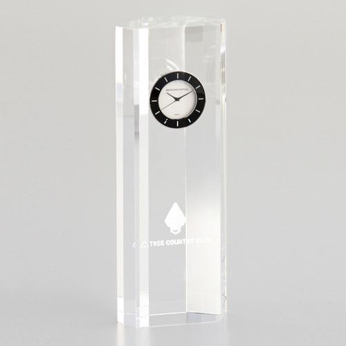 光学ガラス製置時計 D73-03A ★高さ185mm