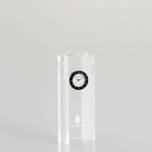 光学ガラス製置時計 D73-03B ★高さ160mm