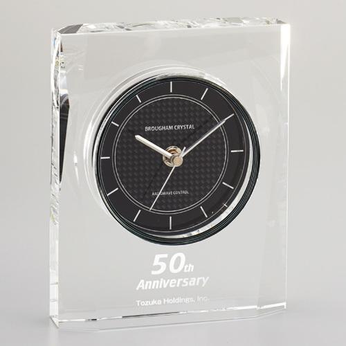 光学ガラス製電波置時計 D73-04 ★高さ200mm