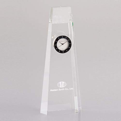 光学ガラス製置時計 D74-01A ★高さ210mm