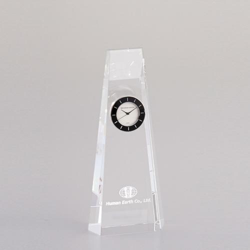 光学ガラス製置時計 D74-01B ★高さ185mm