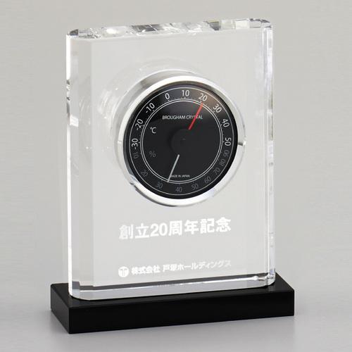 光学ガラス製温湿度計 D74-03 ★高さ137mm