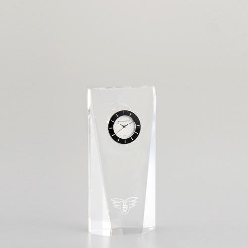 光学ガラス製置時計 D75-03C ★高さ150mm