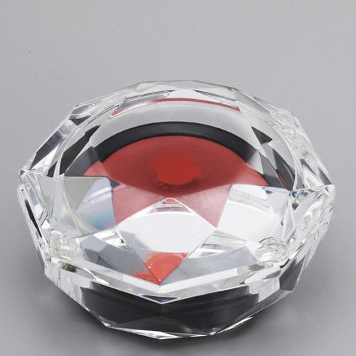 光学ガラス製朱肉入れ D77-05 ★直径75mm