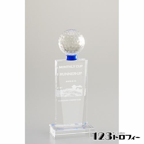 【版代別途必要】光学ガラス製トロフィー E01-05B ★高さ240mm