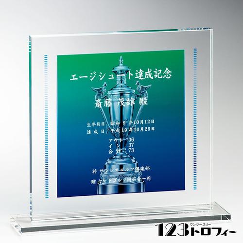 光学ガラス製楯 E04-01 ★高さ260mm