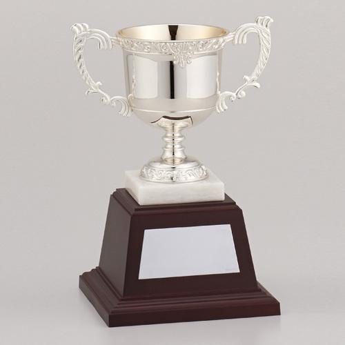 ★ 優勝カップシルバーカップ NO-2570A ★高さ235mm 《BS12》プレート彫刻無料 (ゴルフコンペ レプリカ 野球サッカー 体育祭 運動会 文化祭)