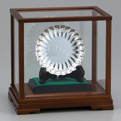 銀製品 菊皿 NS-1150A ★高さ221mm ★プレート彫刻無料 ★送料無料