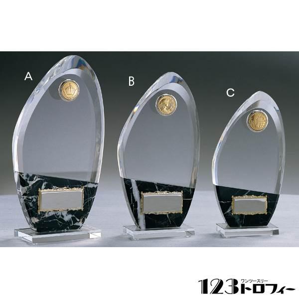 クリスタルオーナメント CMV310C ★高さ190mm 《ASH-0》 プレート色:銀 ★プレート彫刻無料
