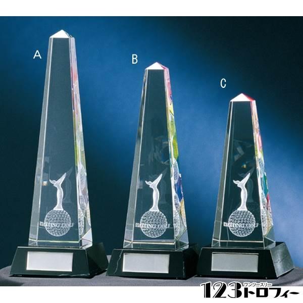 クリスタルオーナメント CM301B ★高さ200mm 《SN-51》 ★プレート彫刻無料 ★