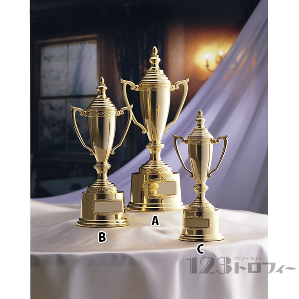 優勝カップ ゴールドカップ AG-9701A★高さ335mm《GN-33》プレート彫刻無料 送料無料(ゴルフコンペ レプリカ 野球サッカー 体育祭 運動会 文化祭)