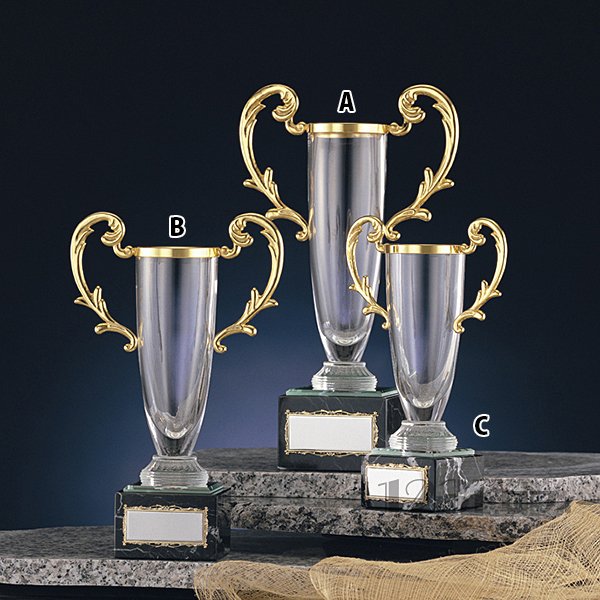 クリスタルカップ CG-7502C ★高さ190mm《AGH-1》 プレート色:金 プレート彫刻無料