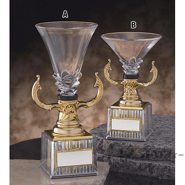 クリスタルカップ CG-7513B ★高さ215mm《AGH-2》 プレート色:金 プレート彫刻無料