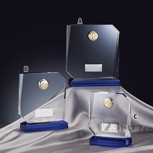 プレート彫刻無料 クリスタルオーナメント ★高さ135mm《ASH-1》 CMV-366C プレート色:銀