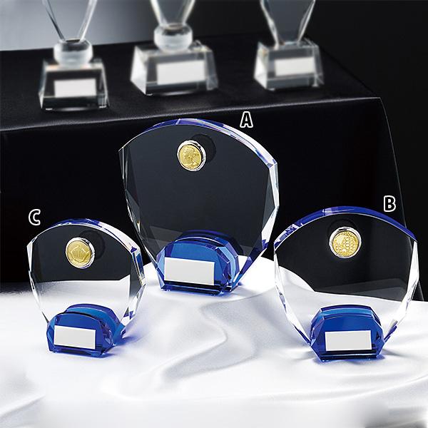 CMV-369A ★高さ160mm《ASH-1》 クリスタルオーナメント プレート彫刻無料 プレート色:銀