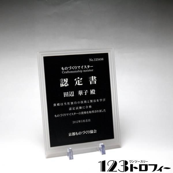 アクリルプラーク(表彰楯) ストーントリプルエッジ フロスト 【サイズS】