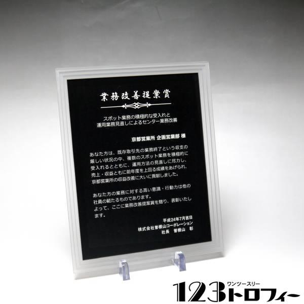 アクリルプラーク(表彰楯) ストーントリプルエッジ フロスト 【サイズM】