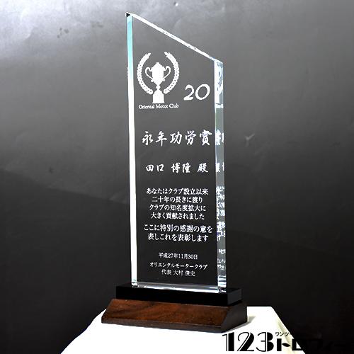 アクリルトロフィー ピーク クリア 【Lサイズ】