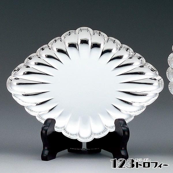 銀製品 菱形菊皿 NS-1134A ★高さ136mm ★プレート彫刻無料 ★送料無料