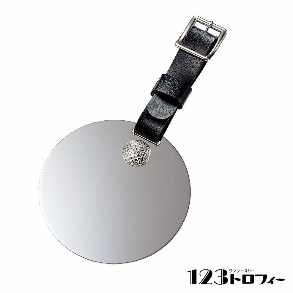 銀製品 ゴルフ用 バッグ札 NS-1168B ★φ60mm